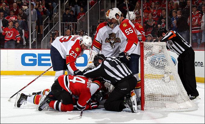 """23 апреля 2012 года. Ньюарк. Плей-офф НХЛ. 1/8 финала. """"Нью-Джерси Девилз"""" — """"Флорида Пантерз"""" — 3:2 (ОТ)"""