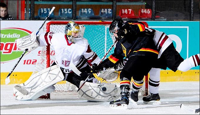 16 апреля 2012 года. Зноймо. Юниорский чемпионат мира. Германия — Латвия — 4:5