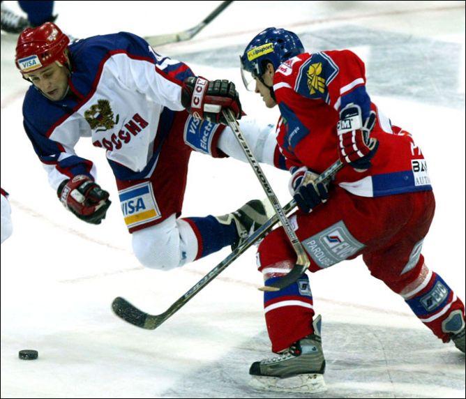 Петр Пруха против Дмитрия Затонского на Кубке Балтики 2003 года.