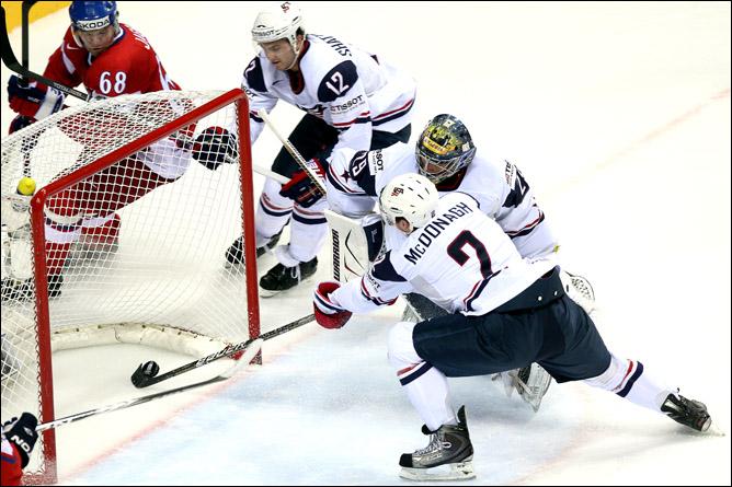 11 мая 2011 года. Братислава. Чемпионат мира. 1/4 финала. Чехия — США — 4:0