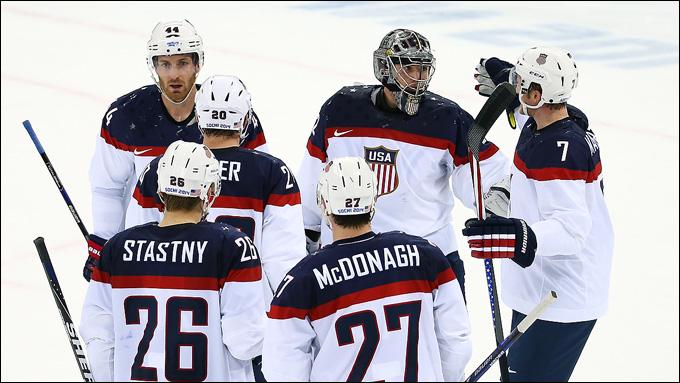 13 февраля 2014 года. Сочи. XXII зимние Олимпийские игры. Хоккей. Групповой этап. Словакия — США — 1:7
