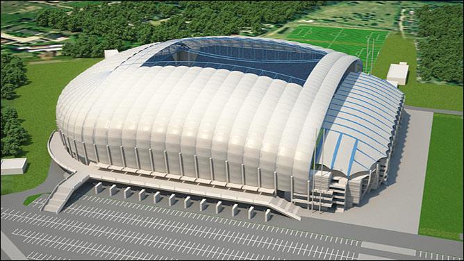 Новенький Municipal Stadium во Вроцлаве