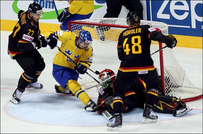 11 мая 2011 года. Братислава. Чемпионат мира. 1/4 финала. Швеция – Германия – 5:2
