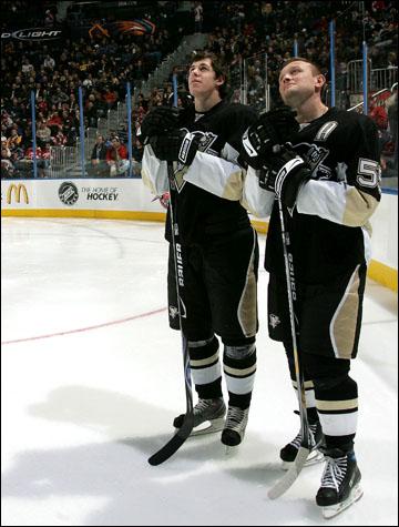 Евгений Малкин и Сергей Гончар на Матче всех звёзд НХЛ