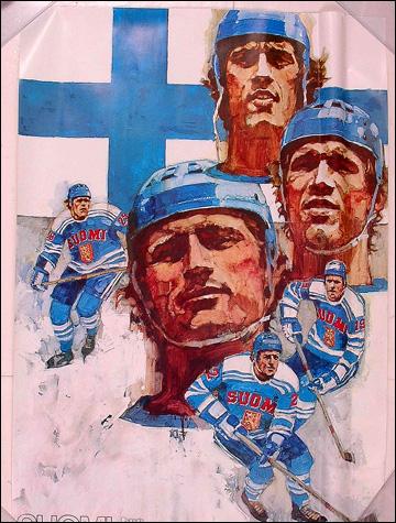 Афиша сборной Финляндии, посвященная Кубку Канады 1976 года