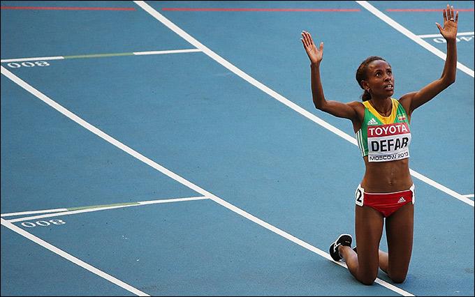 Дефар легко выиграла 5000 метров
