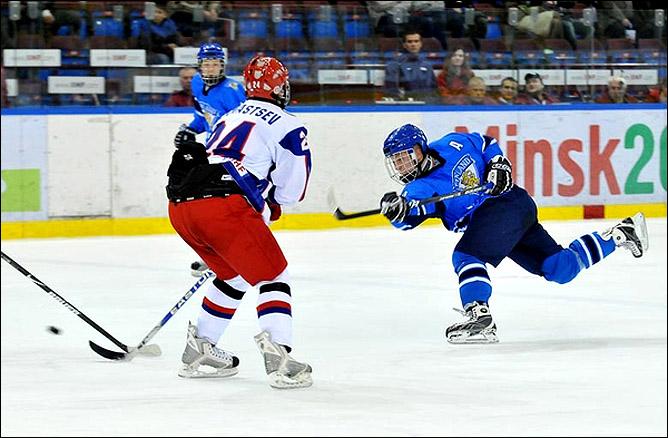 23.04.2010. Чемпионат мира U-18. Россия - Финляндия - 1:5. Фото 01.