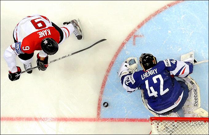 7 мая 2012 года. Хельсинки. Чемпионат мира. Групповой турнир. Франция — Канада — 2:7