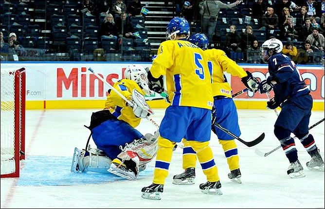 23.04.2010. Хоккей. Чемпионат мира U-18. Финал. США - Швеция - 3:1. Фото 01.
