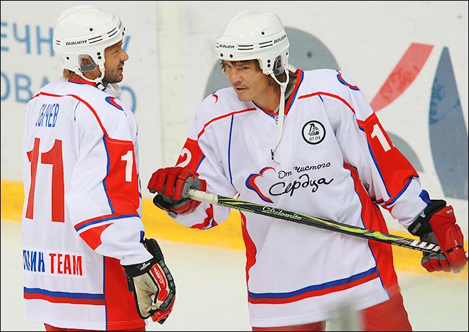 Благотворительный матч с участием Лоськова, Овечкина и Ковальчука