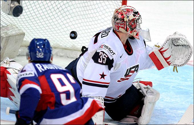 7 мая 2012 года. Хельсинки. Чемпионат мира. Групповой турнир. США — Словакия — 2:4