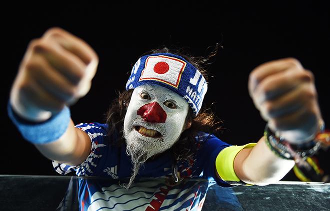 Болельщик сборной Японии