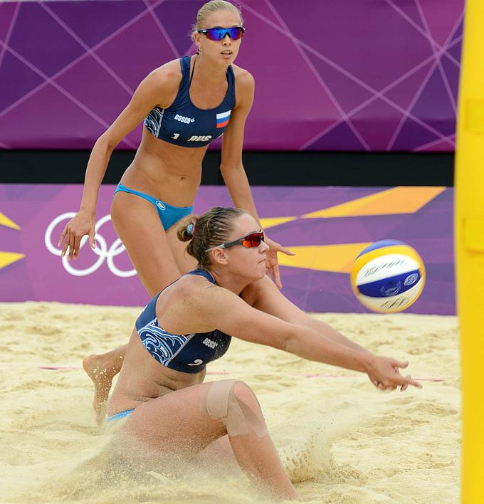 Лондон-2012. Пляжный волейбол. Анна Возакова и Анастасия Васина