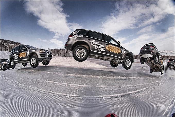 В 2009 году Volkswagen Toureg на соревнованиях BGV Fest сделал трюк под названием Big Air