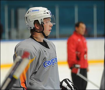 Никита Попов на тренировке