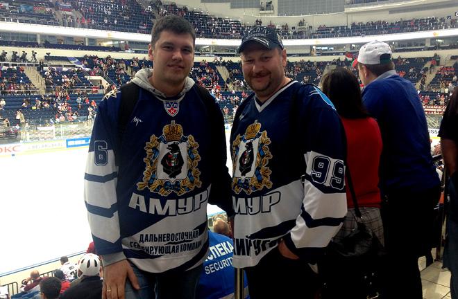 Хабаровские болельщики в Минске