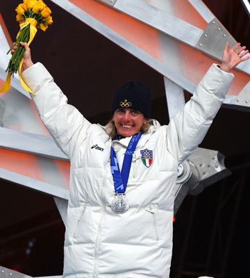Стефания Бельмондо на Олимпиаде в Солт-Лейк-Сити