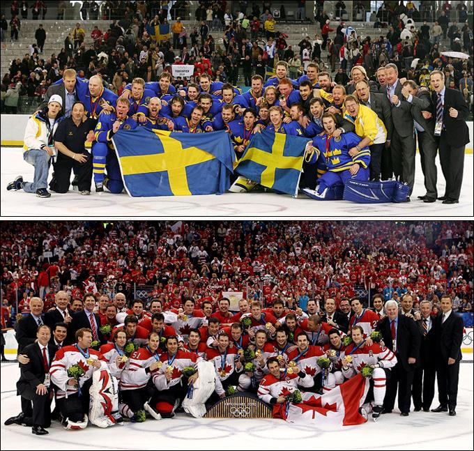 Чемпионы Турина-2006 против чемпионов Ванкувера-2010