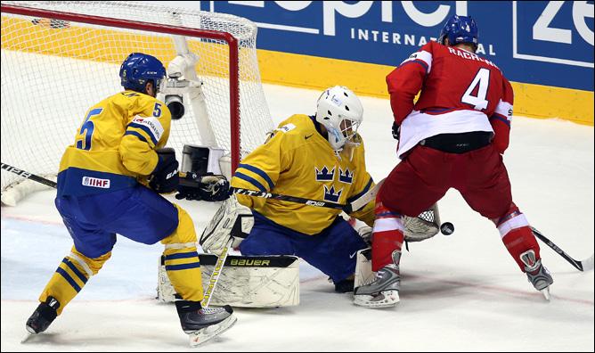 13 мая 2011 года. Братислава. Чемпионат мира. 1/2 финала. Чехия — Швеция — 2:5
