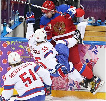 18 февраля 2014 года. Сочи. XXII зимние Олимпийские игры. Хоккей. Квалификация. Россия — Норвегия — 4:0