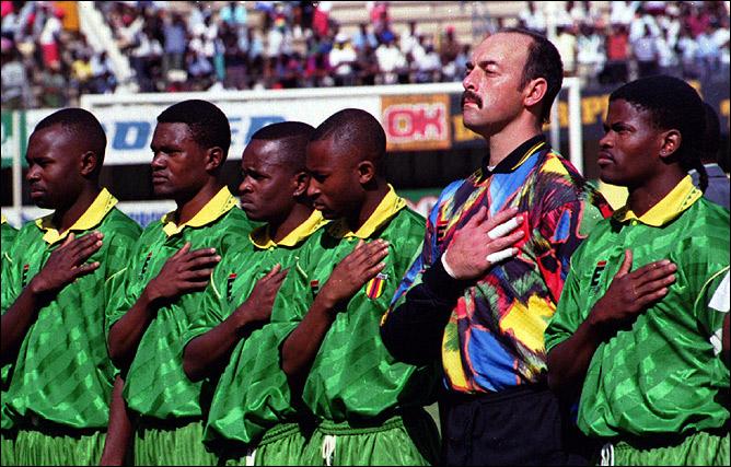 В матче за сборную Зимбабве.