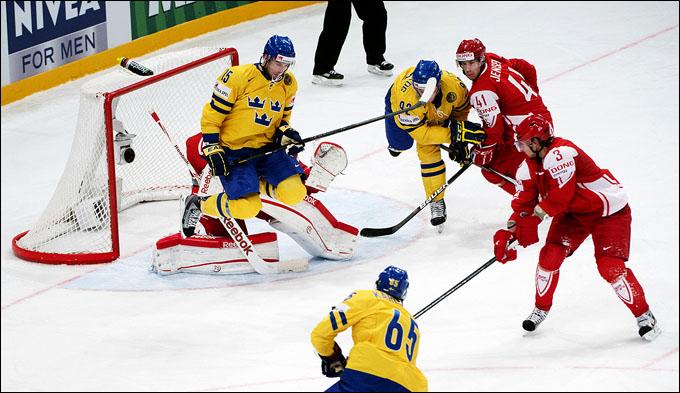 7 мая 2012 года. Стокгольм. Чемпионат мира. Групповой турнир. Дания — Швеция — 4:6