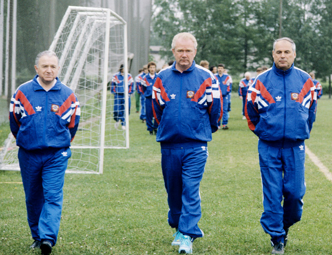 Никита Симонян, Валерий Лобановский и Юрий Морозов