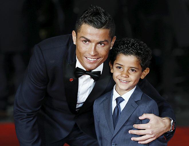 Роналдо с сыном