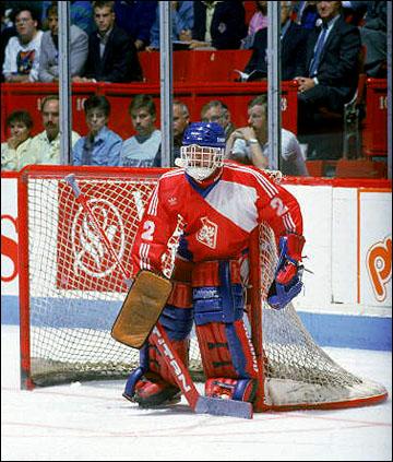 Голкипер сборной Чехословакии на Кубке Канады-1987 Доминик Гашек