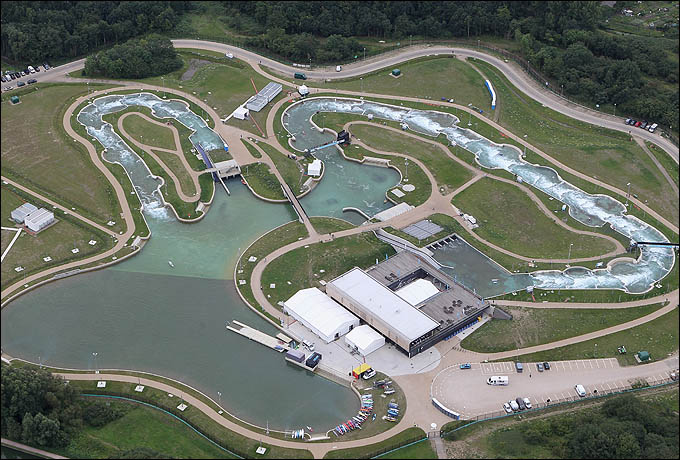 Lee Valley White Water Centre. Вид сверху