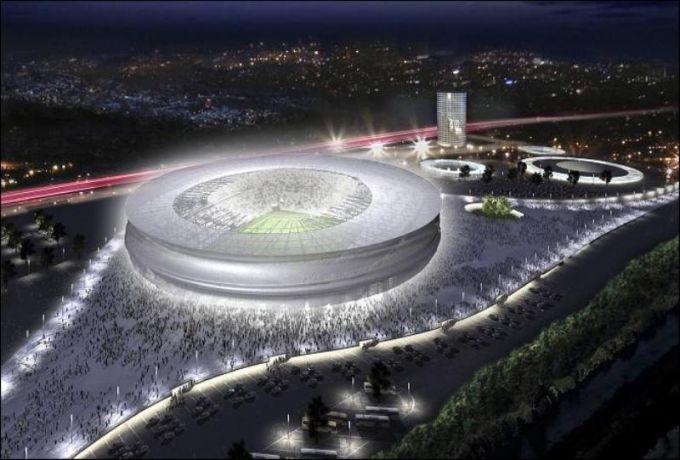 """Тот самый """"Municipal Stadium"""", специально построенный к Евро 2012."""