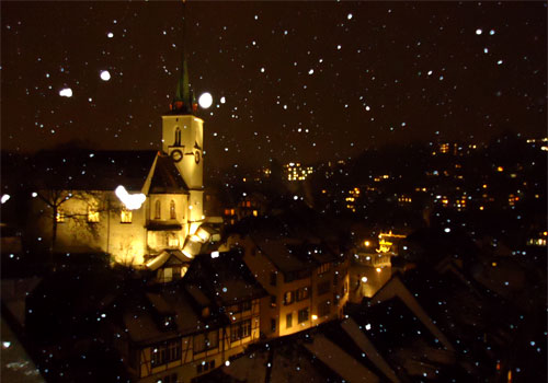Ночной зимний Берн