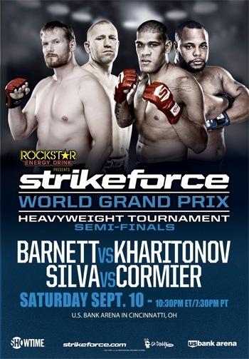 Постер к полуфиналам Гран-при тяжеловесов Strikeforce