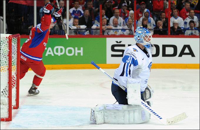 19 мая 2012 года. Хельсинки. Чемпионат мира. 1/2 финала. Россия — Финляндия — 6:2