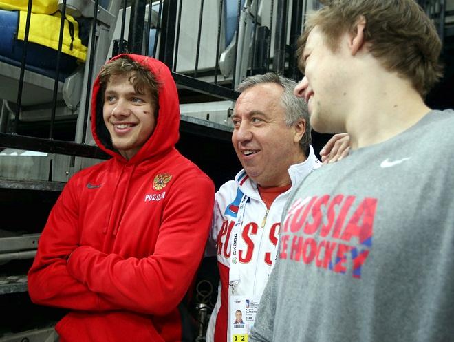 Артемий Панарин, Андрей Сафронов и Владимир Тарасенко