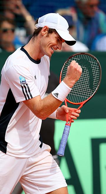 Энди Маррей выиграл для сборной Великобритании две одиночки и пару.