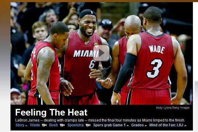 ESPN: «Чувствуя жару» (обыгрывается слово Heat)