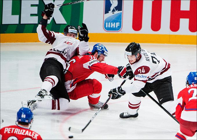 10 мая 2012 года. Стокгольм. Чемпионат мира. Групповой турнир. Чехия — Латвия — 3:1