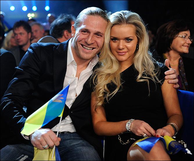 С женой Юлией