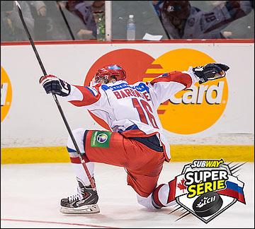 Иван Барбашев отличился в обоих матчах со сборной Квебека