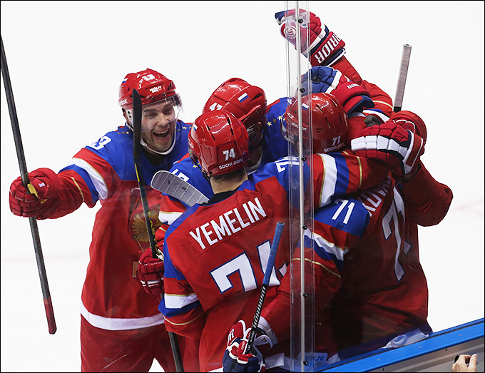 18 февраля 2014 года. Сочи. XXII зимние Олимпийские игры. Хоккей. Квалификация. Россия — Норвегия — 4:0.