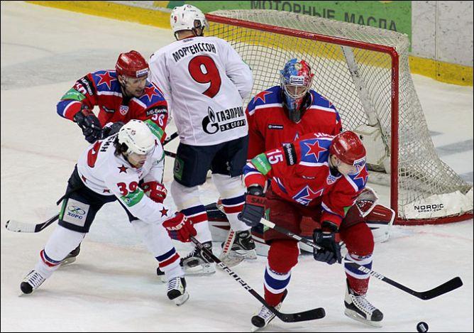 14 января 2011 года. Регулярный чемпионат КХЛ. Москва. ЦСКА - СКА - 1:2.