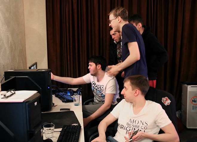 Team Empire во время буткемпа
