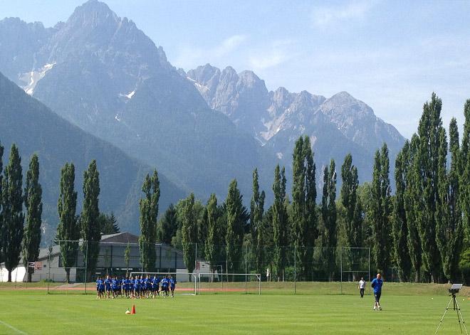 Тренировка «Динамо» в Лиенце