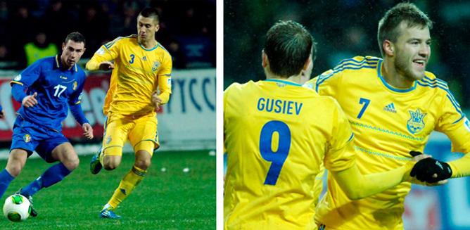 Хачериди и Ярмоленко забили по голу