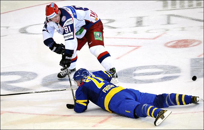 Владимир Тарасенко против сборной Швеции