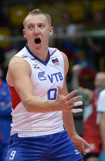 Волейбол. Чемпионат Европы. Мужчины. Болгария — Россия — 1:3. Алексей Спиридонов