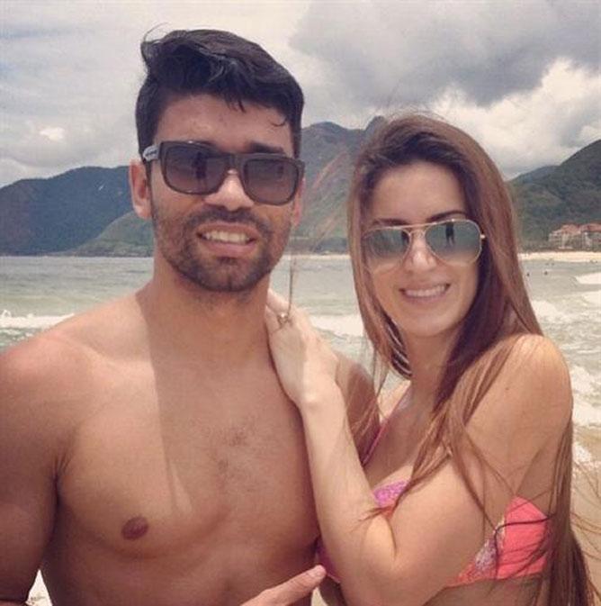 Эдуардо с женой