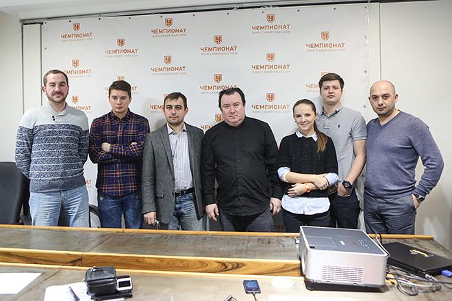 Алексей Сафонов — гость редакции «Чемпионата»