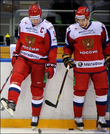 Богдан Киселевич (справа) с Ильей Никулиным в сборной России